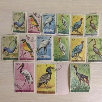Республика Бурунди. Птицы. Полный набор.