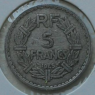Франция 5 франков 1945 год