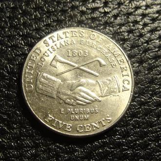 5 центів 2004 D США Придбання Луїзіани
