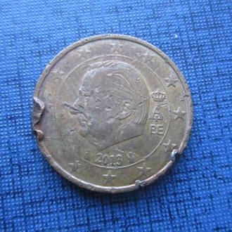 монета 2 евроцента Бельгия 2013 как есть