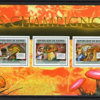 Гвинея 2011 ** Флора Грибы 18-00 евро БЛ MNH