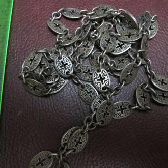 Цепь для наперстного креста в серебре.