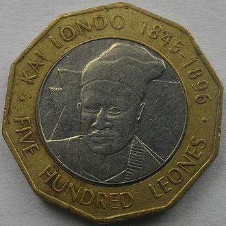 Сьерра-Леоне  500 леоне 2004 год СОХРАН!!!