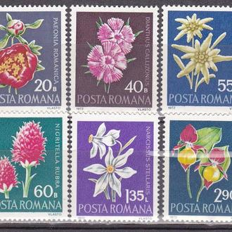 Румыния 1972 флора MNH
