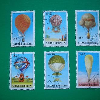 Сан Томе 1979 Дирижабли 200 лет авиации * полн. серия