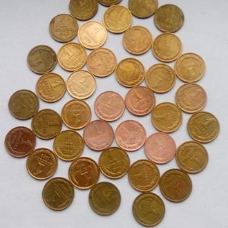 Лот редких монет СССР с 1962-90 гг  = 39 штук.