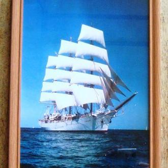 Фотография «Парусник» в рамке под стеклом