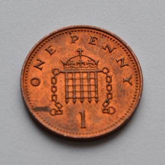 Монета Великобритания 2007 1 пенни