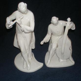 Фарфоровая статуэтка.   Nymphenburg Porzellan. 1898-1903г. Редкость!! Пара музыкантов