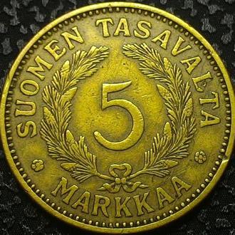 Финляндия 5 марок 1930 год РЕДКАЯ!!!