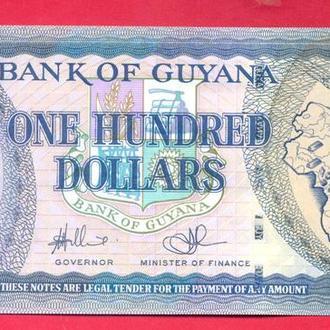 Боны Америка Гайана 100 долларов 1996 г.
