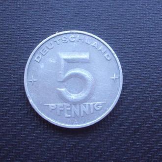 ГДР 5 пфен. 1952г. А.