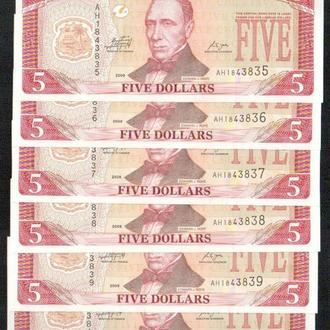 Либерия/Liberia 5 Dollars 2009 Pick 26 UNC_ лот № 6 Африка