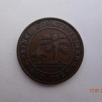 Провинция остров Принца Эдуарда 1 цент 1871 Victoria отличное состояние очень редкая