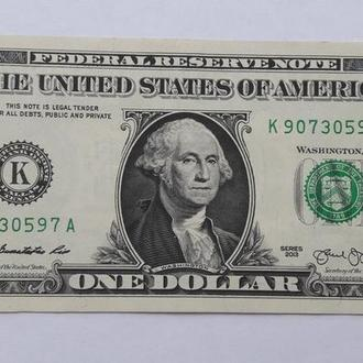 "США 1 доллар 2013 серия ""К"""