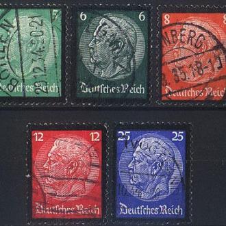 1934 - Рейх - Гинденбург - Траурный Mi.549-53 _13,40 EU