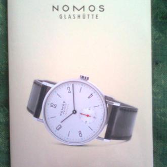 """Каталоги часов """"NOMOS GLASHUTTE"""" (Германия), 2 + Приложение"""