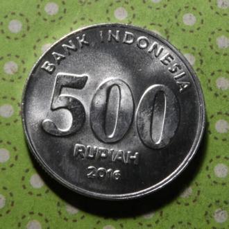 Индонезия 2016 год монета 500 рупий !