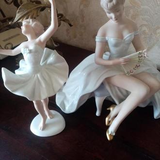 Балерина с веером 26см. Балерина в танце 25см Валендорф