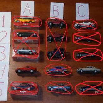 Автомобили Mercedes Benz Herpa, Wiking M 1:87 H0