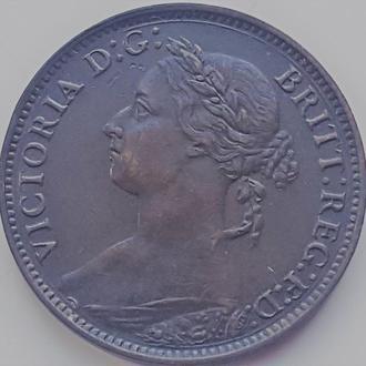 Англия 1 фартинг 1881 год AU UNC!!! ОТЛИЧНОЕ СОСТОЯНИЕ!!!!