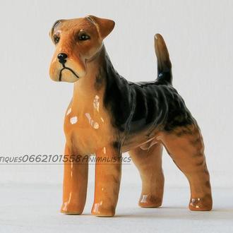 Фарфор фарфоровая статуэтка собака эрдельтерьер Англия Beswick