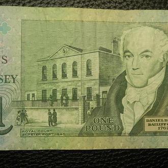 1 фунт Гернсі 1990 (підпис Д.М. Кларк)