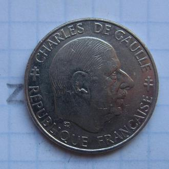 ФРАНЦИЯ. 1 франк 1988 г. (ШАРЛЬ де ГОЛЬ).