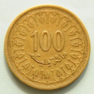 (А) Тунис 100 миллимов 1997