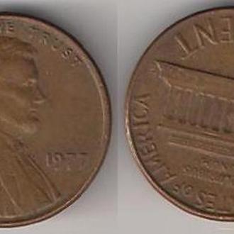 США 1 цент 1977 г.