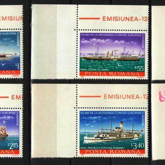 Румыния 1981 ** Транспорт Корабли Флот серия MNH