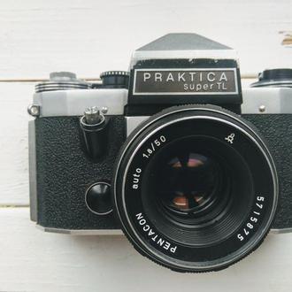 Фотоапарат Плівковий Praktica super TL + об'єктив Pentacon auto 1.8\50