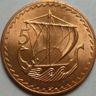 Кипр 5 милей 1972 парусник состояние в коллекцию
