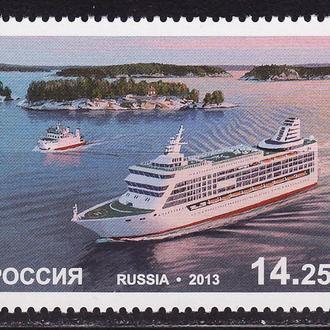Россия 2013 Морской паром Корабли Транспорт 1 марка**