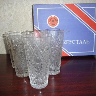 Бокал  хрустальный СССР Азовсталь набор 6 шт