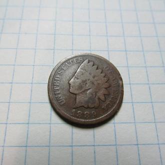 """1 цент 1889 г """"индеец"""""""