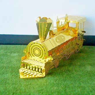 №133 Миниатюрная коллекционная модель Паровоз металл позолота ручная работа из Германии