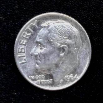 США 1 дайм, разные года-серебро
