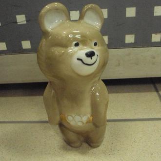 Фарфоровая фигура полонное зхк олимпийский мишка №260