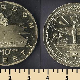 Маршалловы острова 10 долларов 1995