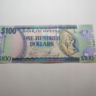 100 долларов Гайяна, unc, пресс, оригинал