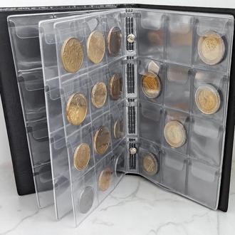 Альбомы  для монет  на 120 ячеек     Размер ячейки: 35 х 40 мм.