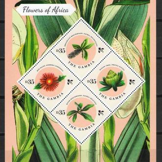 Гамбия ** Флора Цветы Африки МЛ MNH