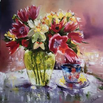 """Картина 60х60 """"Цветы"""""""