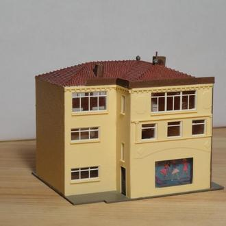 (0389) строение для макета ж/д в масштабе N (1:160)