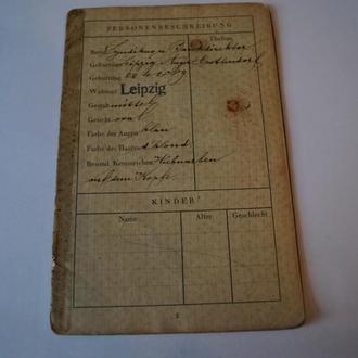 1938 заграничный паспорт 3 рейх 32/30 стр. 13