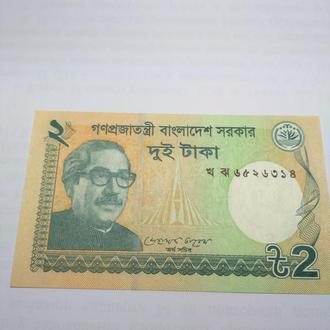 2 така, Бангладеш, 2012 пресс, unc, оригинал