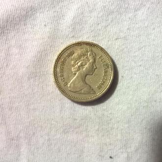 Монета Британия 1 фунт 1983г.