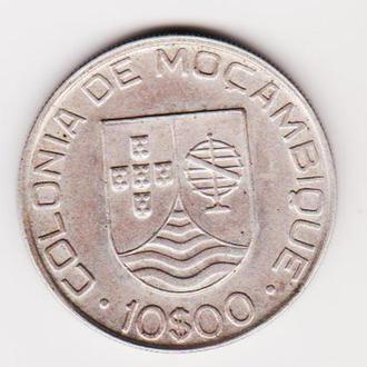 Мозамбик 10 эскудо 1936г.