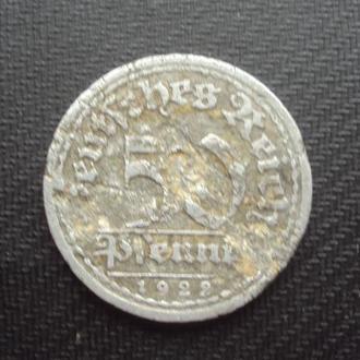 Германия 50пф. 1922г. Веймар.